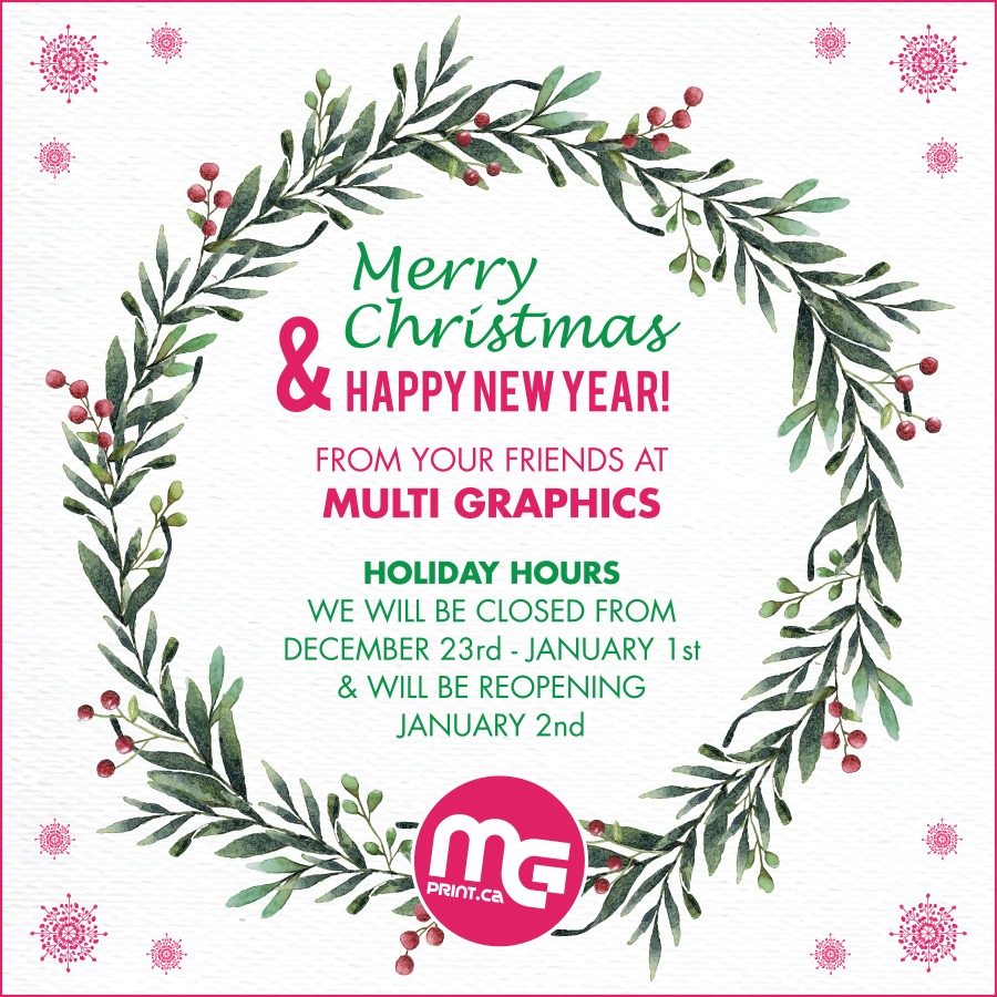 Happy Holidays From MG!